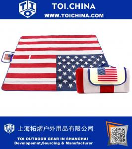 Extra Large American National Flag Outdoor Blanket