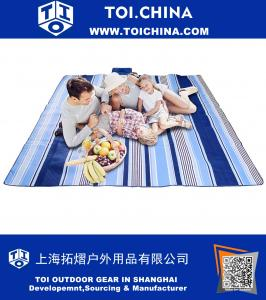 Large Outdoor Picnic Blanket,Waterproof Backing 200 x 200cm Oversized Soft Fleece Material Camping Tote Mat
