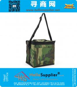 Military Cooler Lunch Bags Thermal Camouflage Pattern Portable Picnic Food Bags with Aluminum Foil Ice Fruit Fresh Storage Bag
