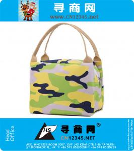 New Qualified Portable Lunch Box Carry Tote Bag Travel Picnic Storage Bag Army green