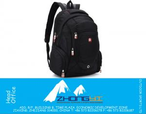 Nylon Swiss Army male backpack business casual mens backpacking travel laptop bags wholesale black Waterproof backpack