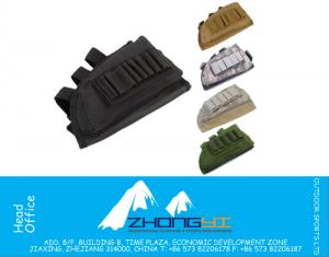 Tactical Military Pouch Holder w/ Cheek Leather Pad magazine Molle bag for hunting airsoft Rifle gun